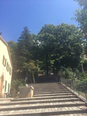 サンレオ城への入り口